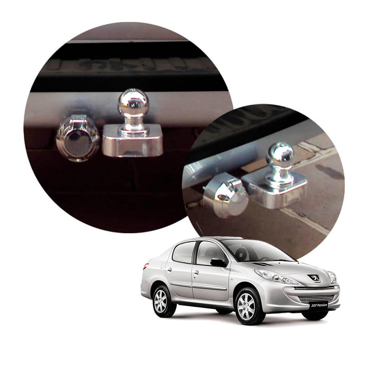 Engate de reboque fixo Peugeot 207 sedan 2009 a 2015