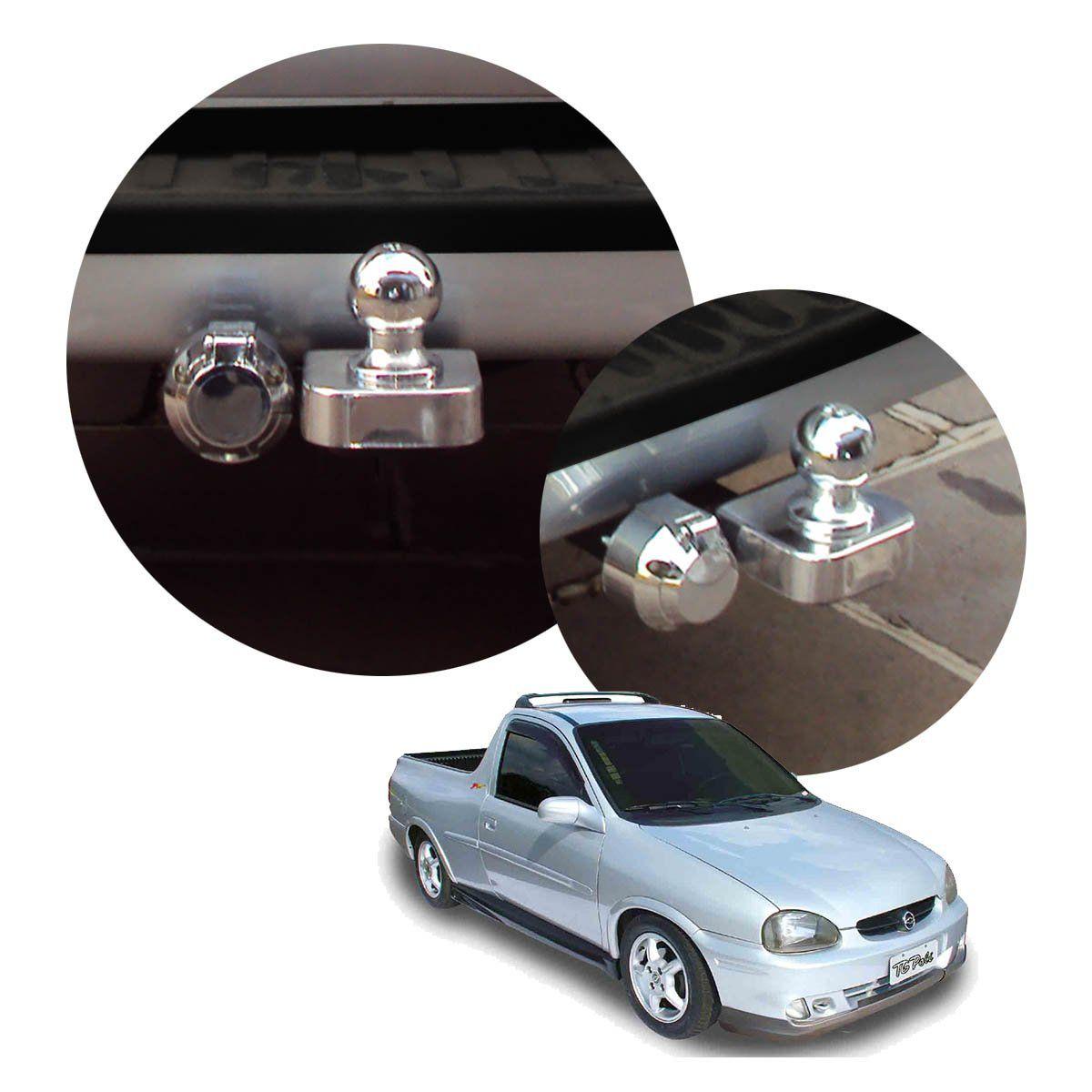 Engate de reboque fixo Pick up Corsa 1995 a 2003