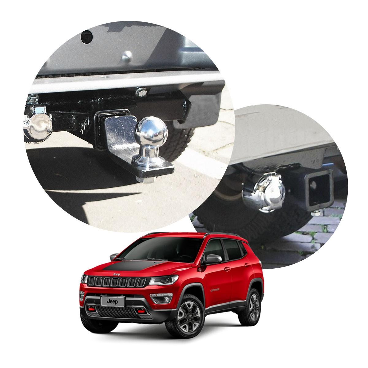 Engate de reboque removível Jeep Compass Trailhawk 2017 a 2021