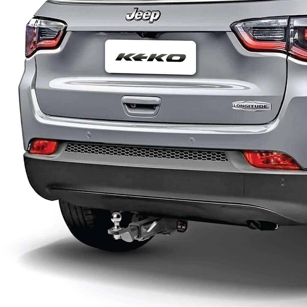 Engate de reboque Jeep Compass 2017 a 2021 Keko K1 removível 750 kg