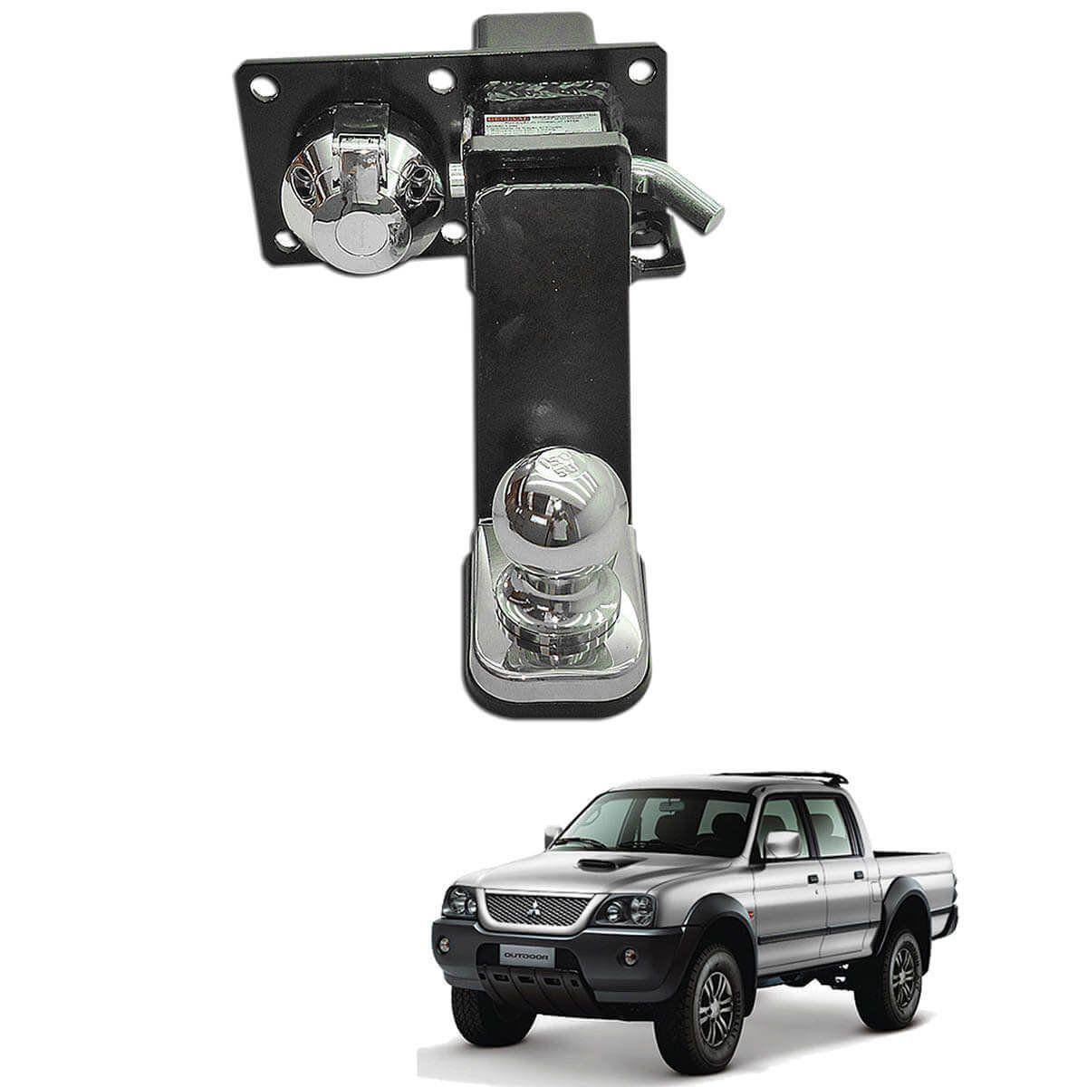 Engate de reboque L200 Sport 2004 a 2007 ou L200 Outdoor 2007 a 2012 Gedeval removível 1500 Kg