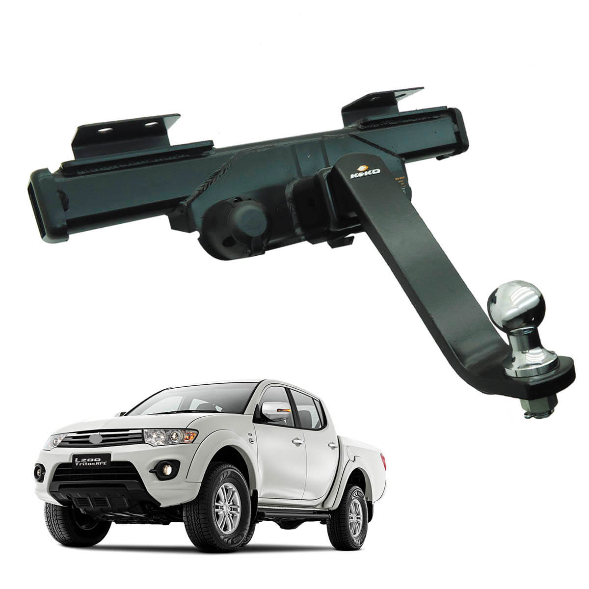 Engate de reboque L200 Triton 2012 a 2016 GLX GLS Outdoor Keko K1 removível 1500 kg
