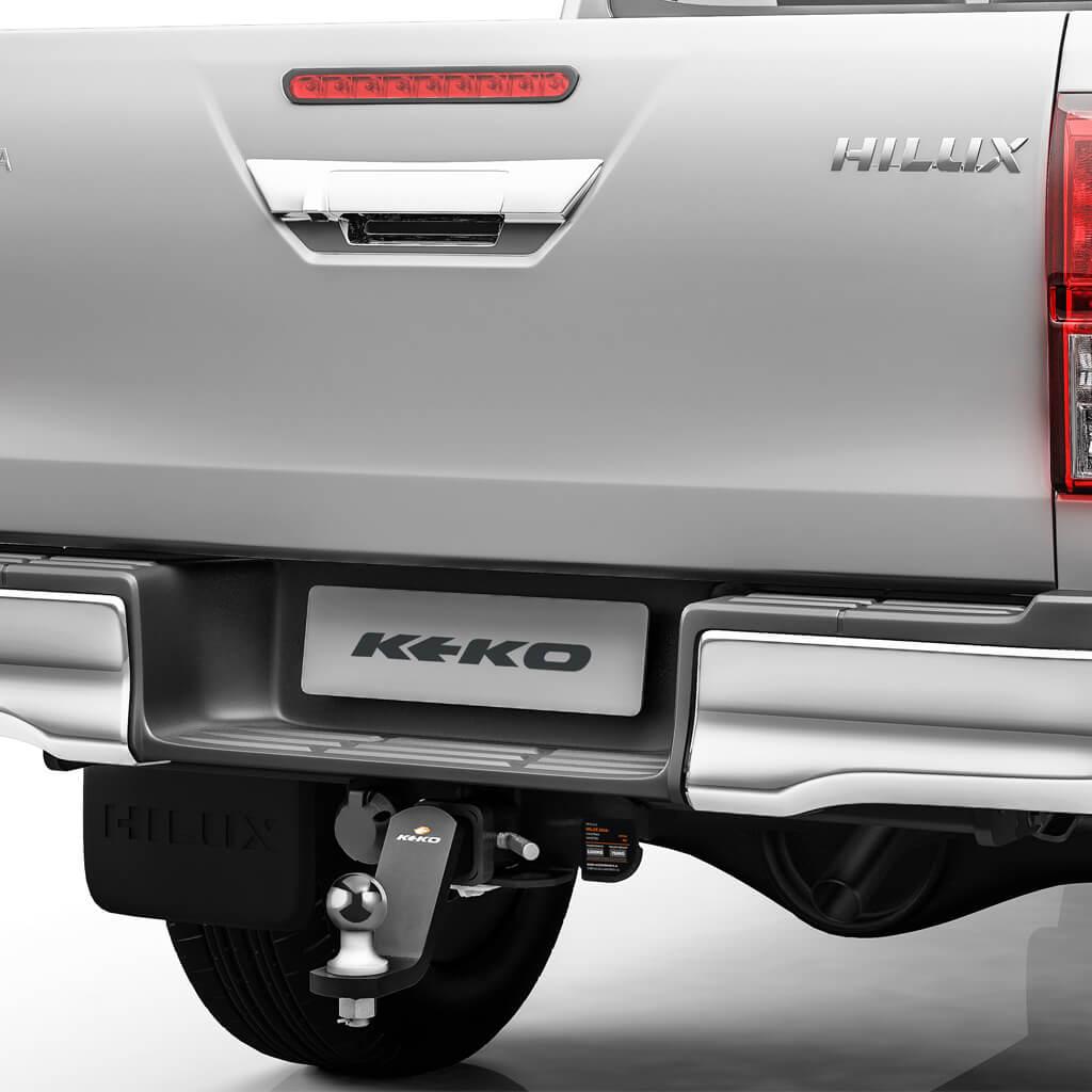 Engate de reboque removível Keko K1 Nova Hilux 2016 a 2021