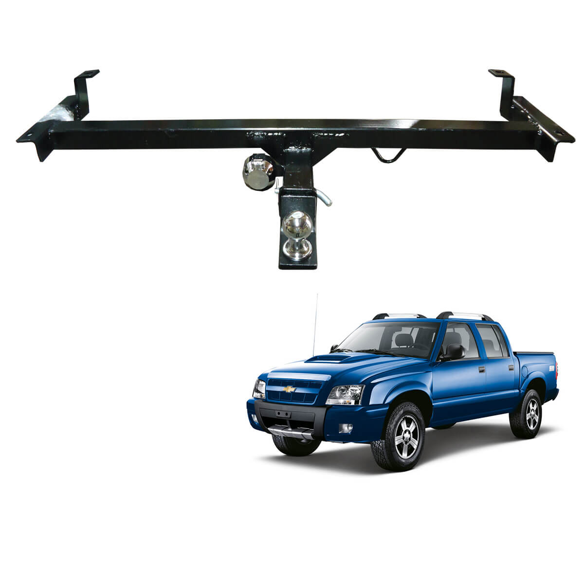 Engate de reboque S10 2001 a 2011 removível 1000 Kg