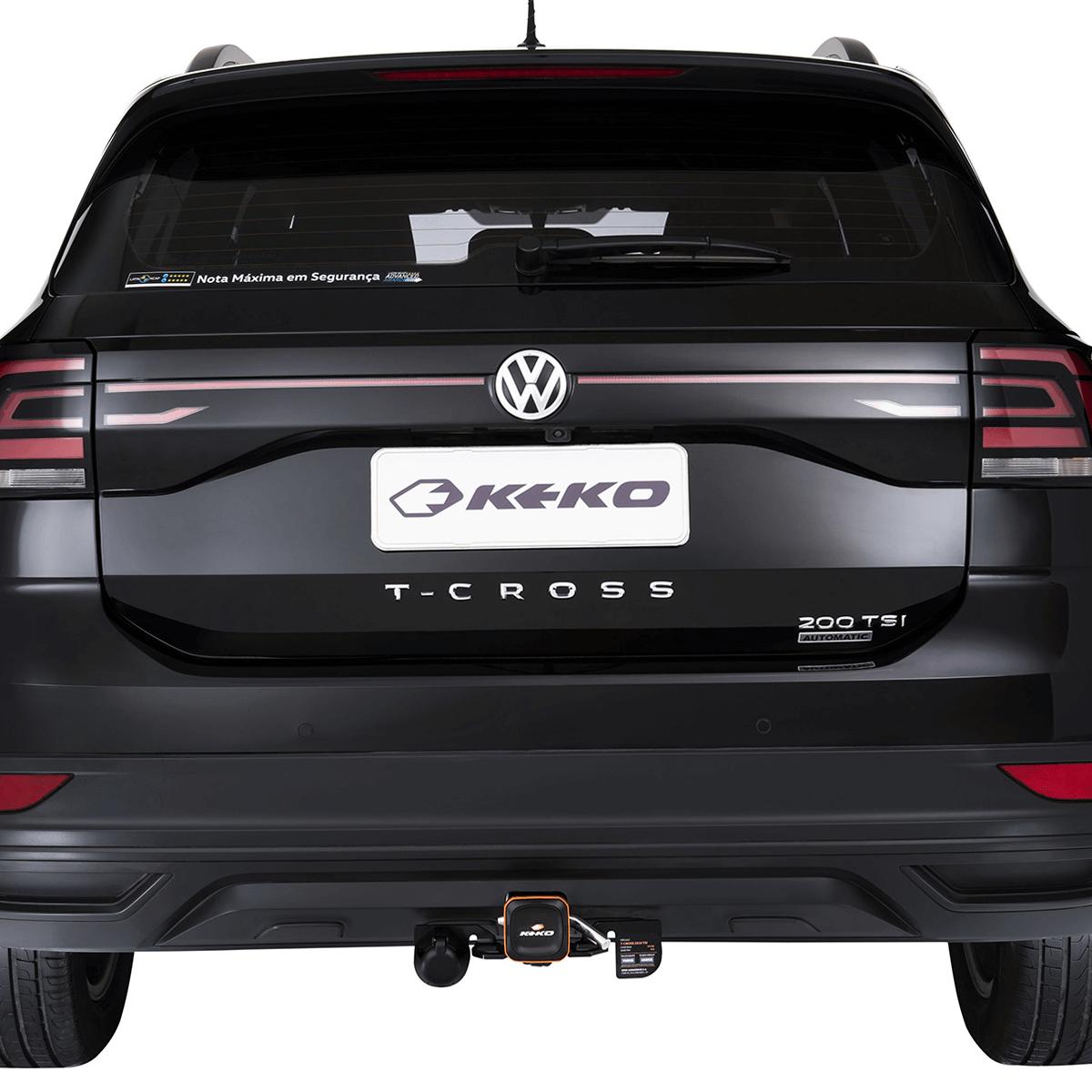 Engate de reboque T-Cross 2020 Keko K1 removível 750 kg