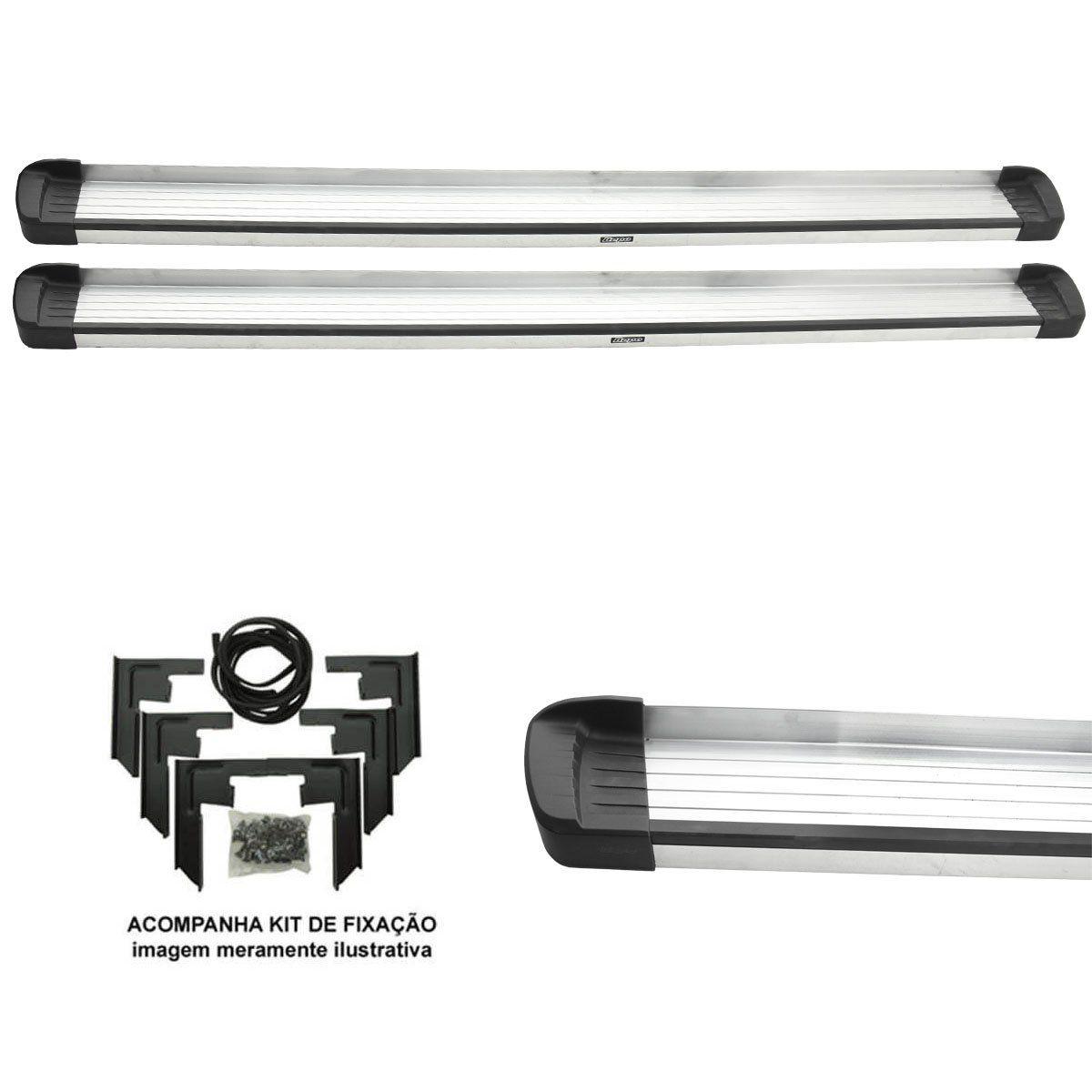 Estribo Bepo G3 alumínio Amarok cabine dupla 2011 a 2021
