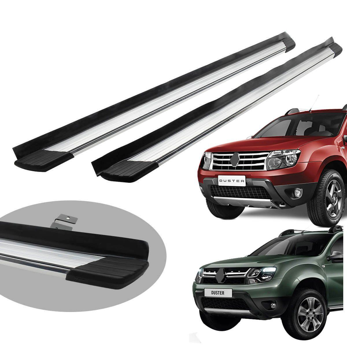 Estribo Bepo SUV 2 alumínio polido Duster 2012 a 2020