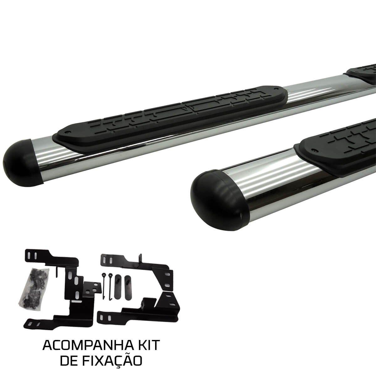 Estribo oval cromado Nova S10 cabine dupla 2012 a 2020