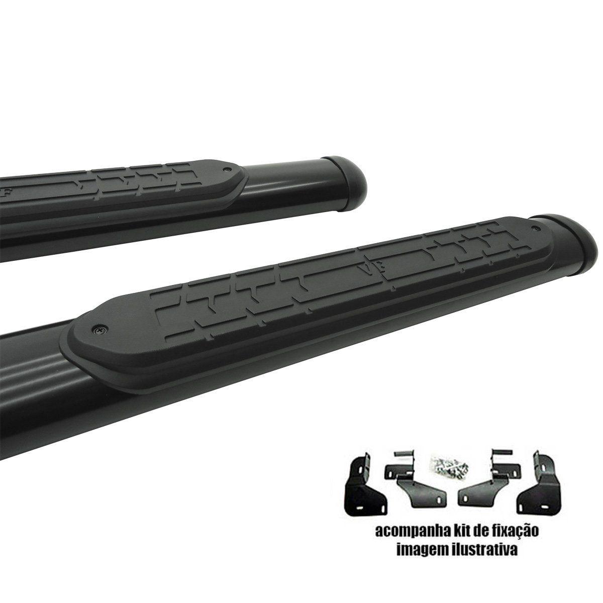 Estribo oval preto Lifan X60 2013 a 2019