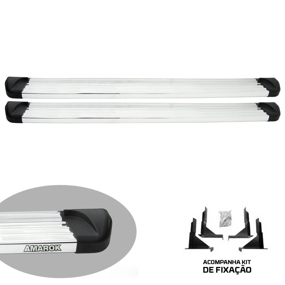 Estribo plataforma alumínio Amarok cabine dupla 2011 a 2020