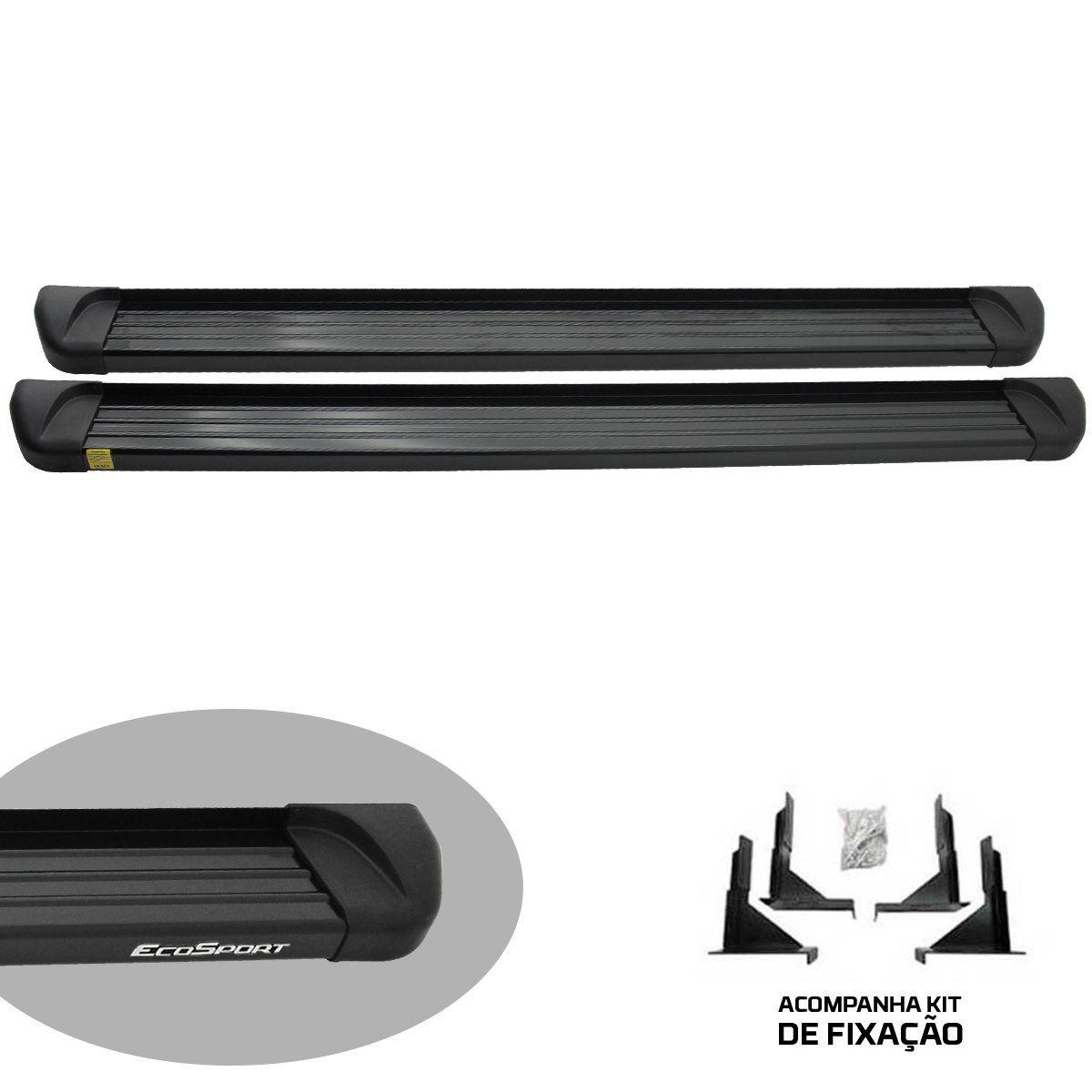Estribo plataforma alumínio preto Ecosport 2013 a 2021