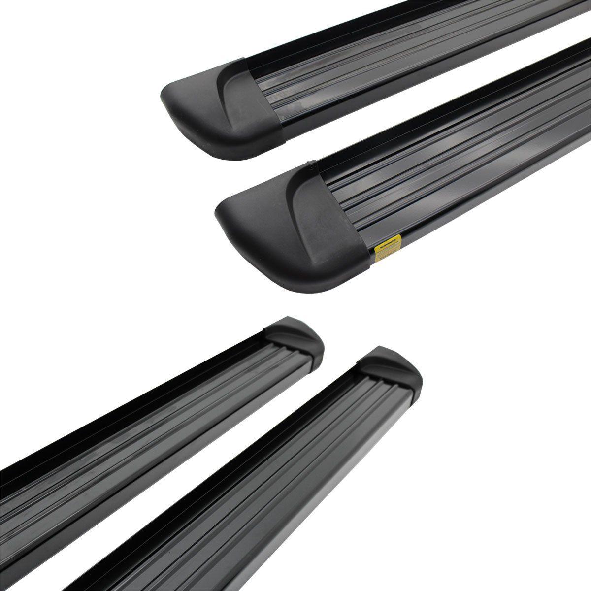 Estribo plataforma alumínio preto L200 Triton Sport 2017 a 2020 e L200 Triton Outdoor 2021
