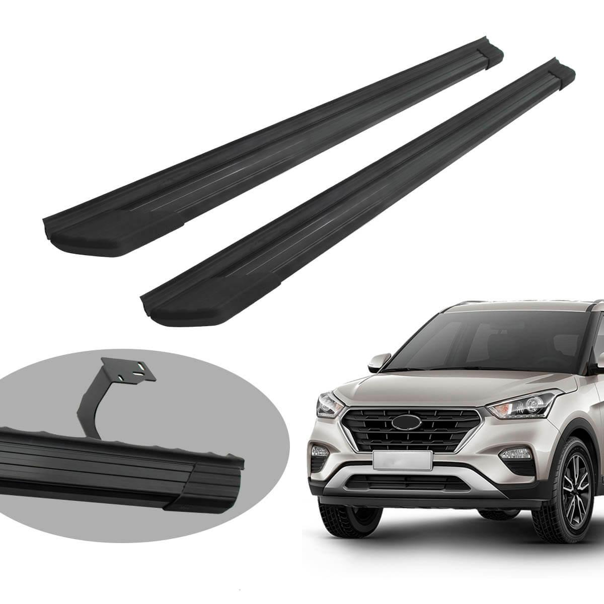 Estribo Bepo SUV 2 alumínio preto Hyundai Creta 2017 2018 2019 2020