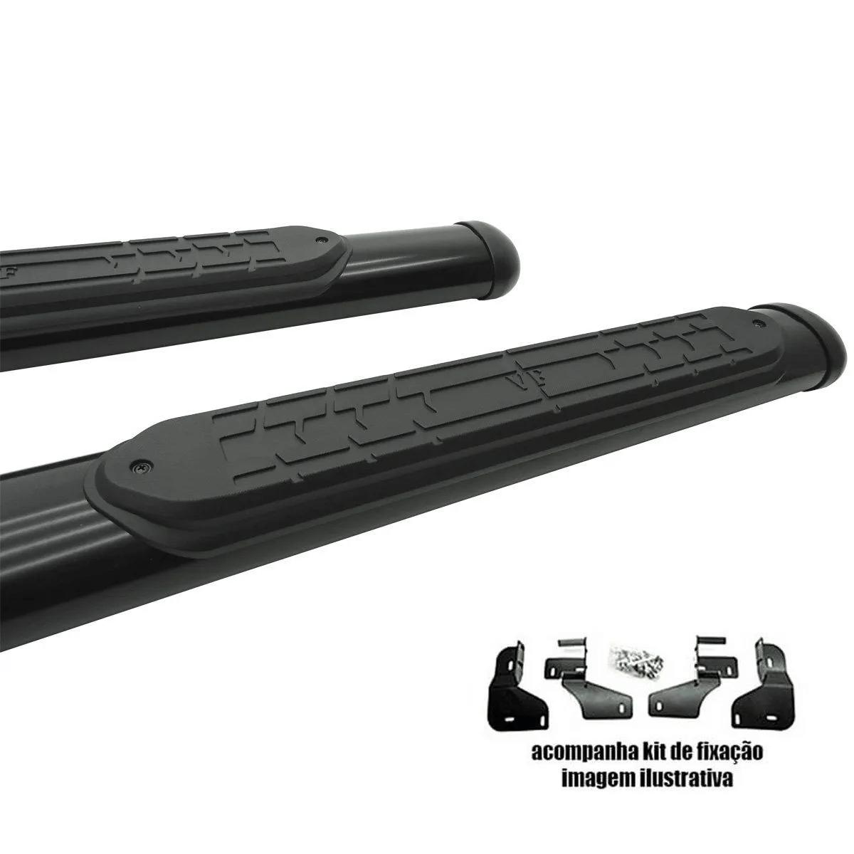 Estribo VF oval preto L200 Triton 2008 a 2016