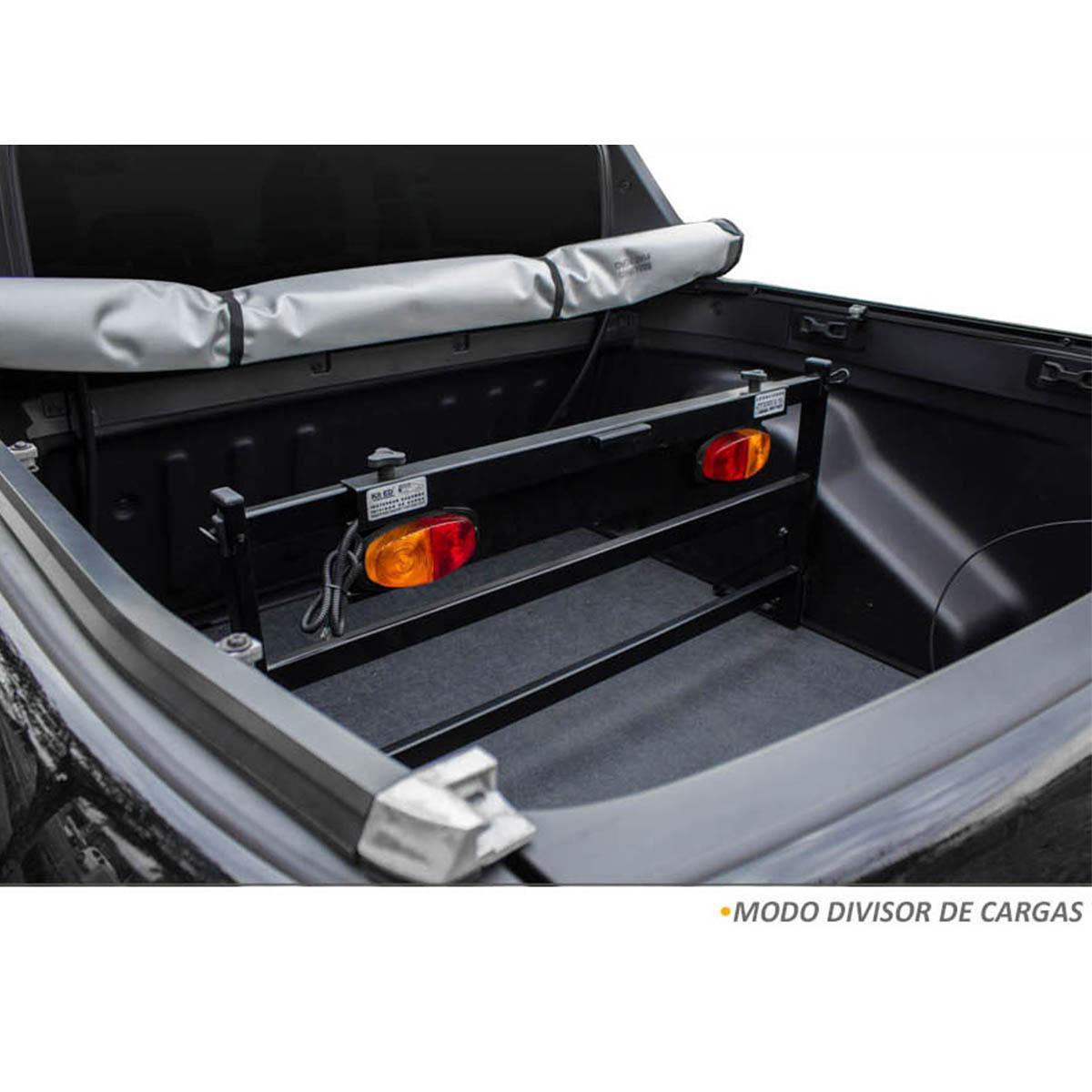 Extensor de caçamba preto Fiat Toro 2017 a 2021