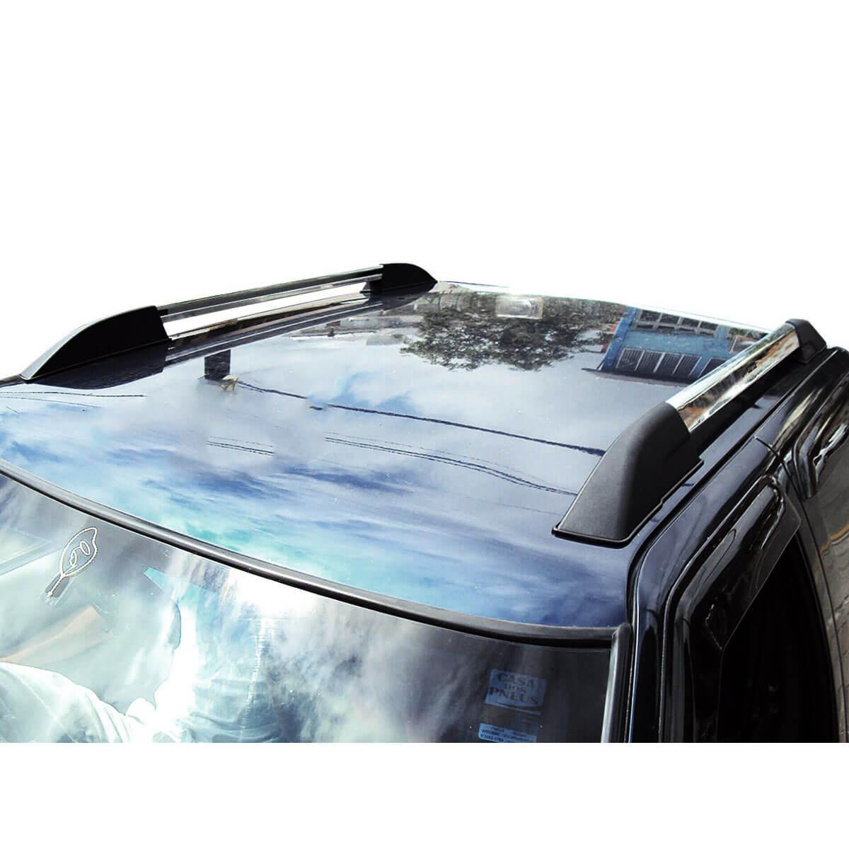 Longarina rack de teto Bepo Executive polido S10 cabine dupla 1997 a 2011