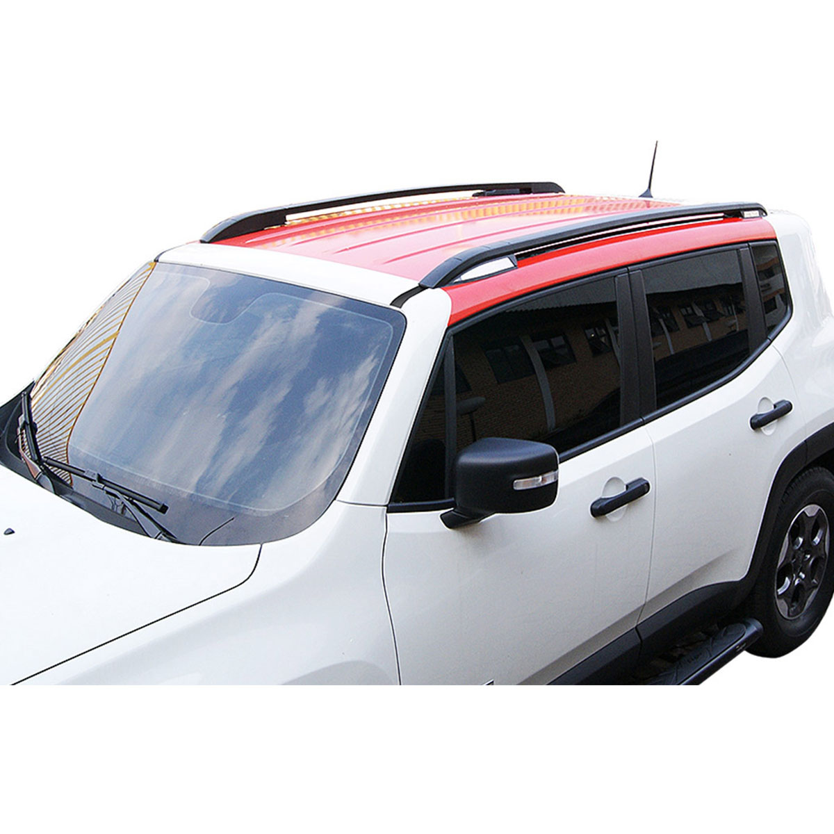 Longarina de teto Bepo Elite preta Jeep Renegade 2016 a 2021