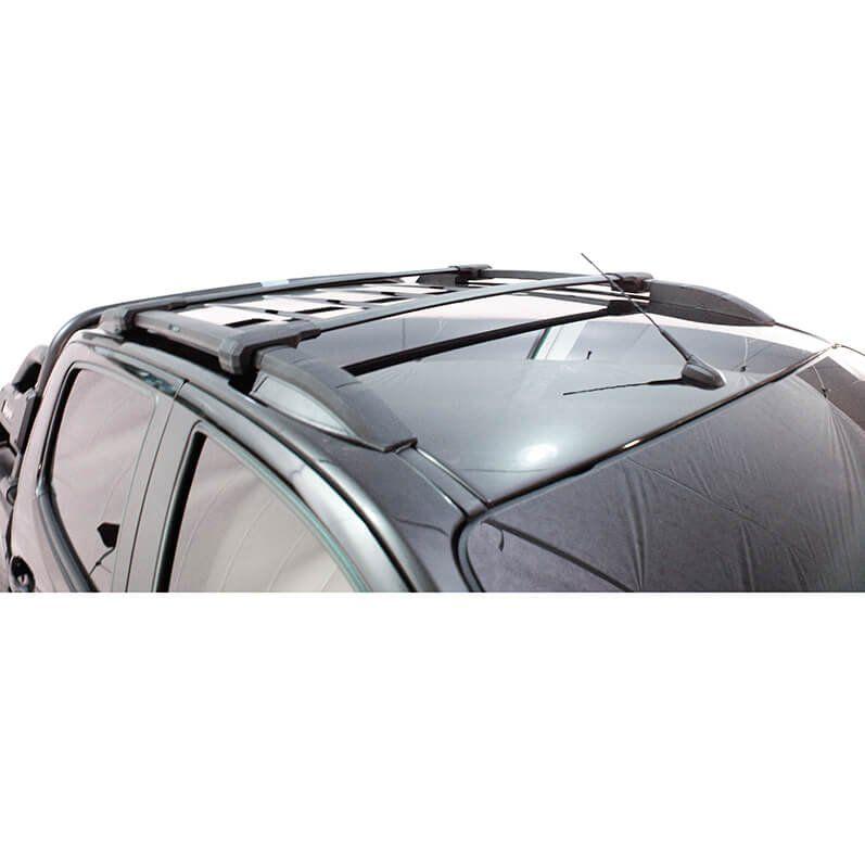 Longarina rack de teto Bepo Elite preto Nova S10 cabine dupla 2012 a 2019 semelhante original