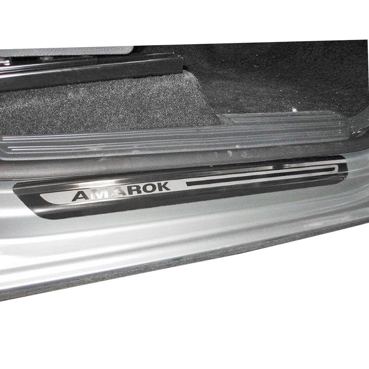 Protetor de soleira aço inox Amarok cabine dupla 2011 a 2021
