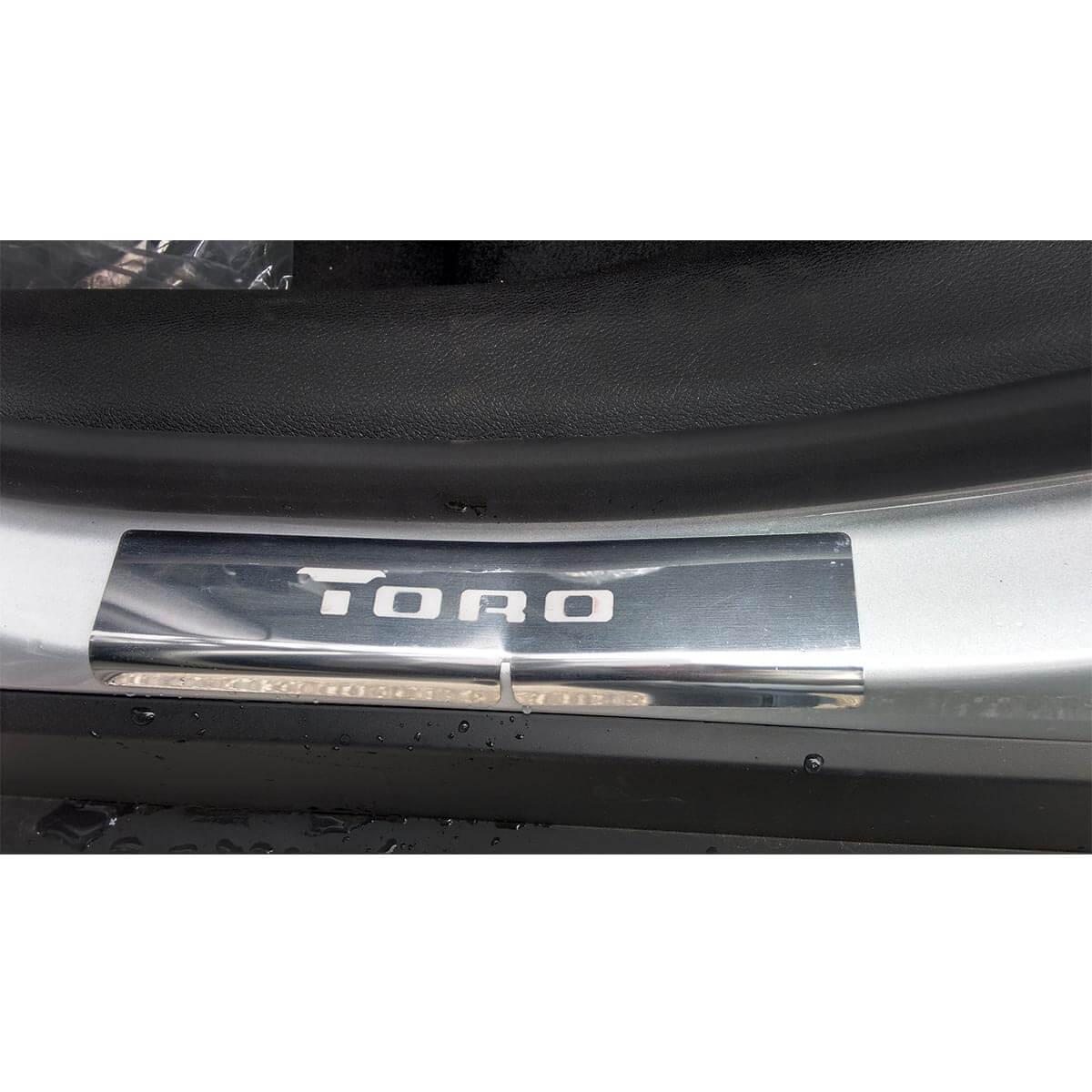 Protetor de soleira aço inox Fiat Toro 2017 a 2021
