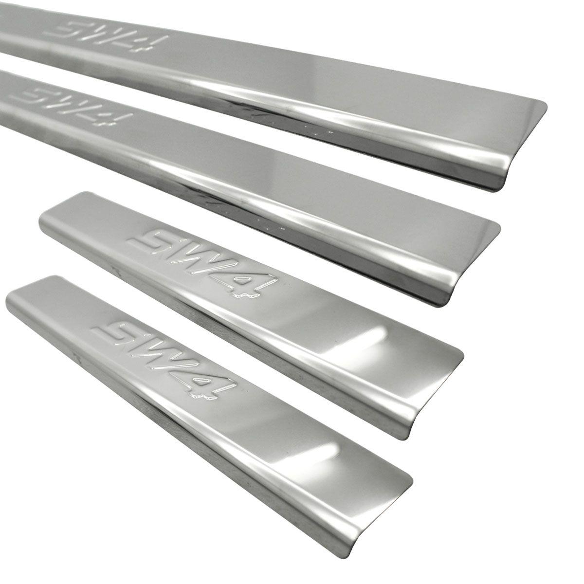 Protetor de soleira aço inox SW4 2005 a 2015
