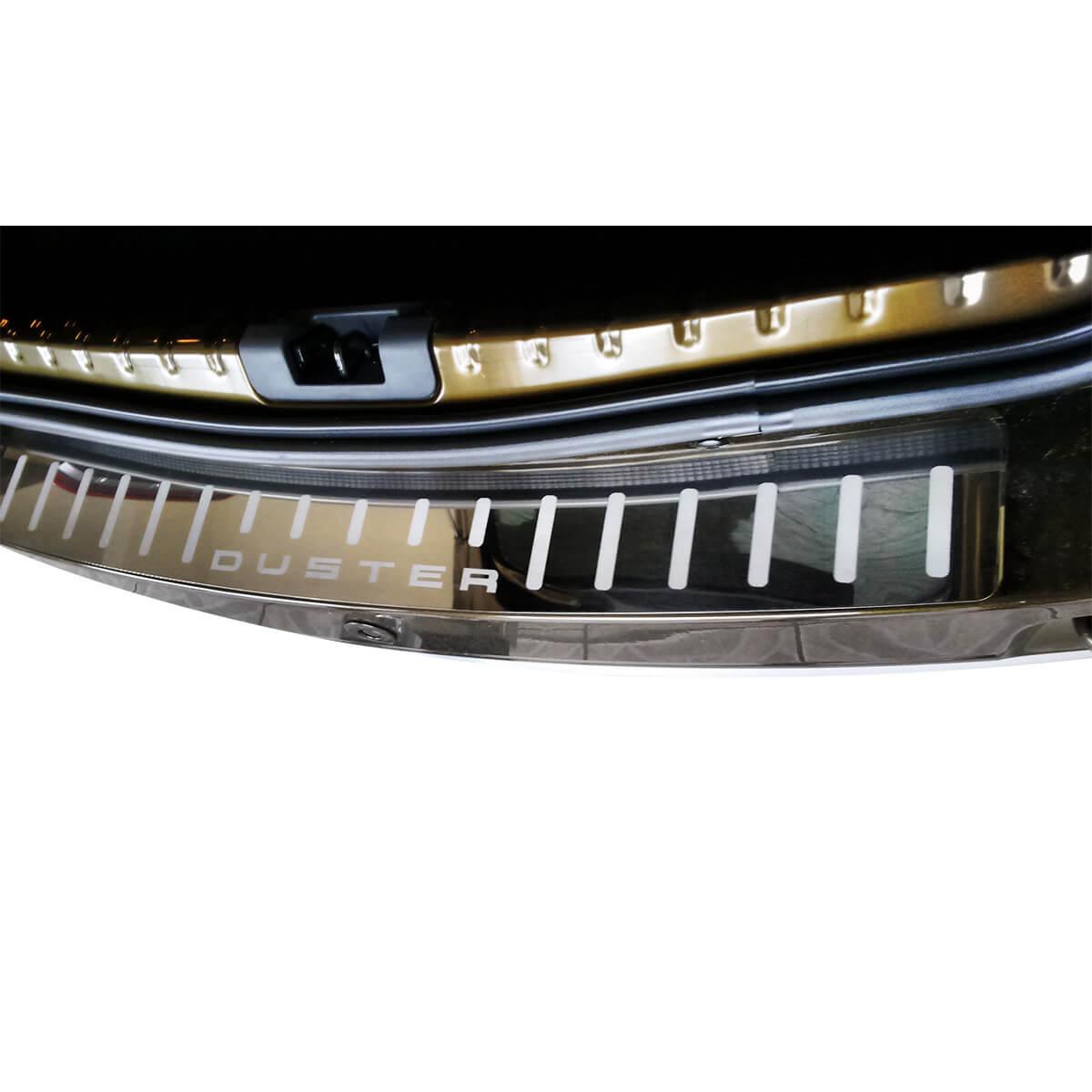 Protetor de soleira porta malas aço inox Duster 2012 a 2022