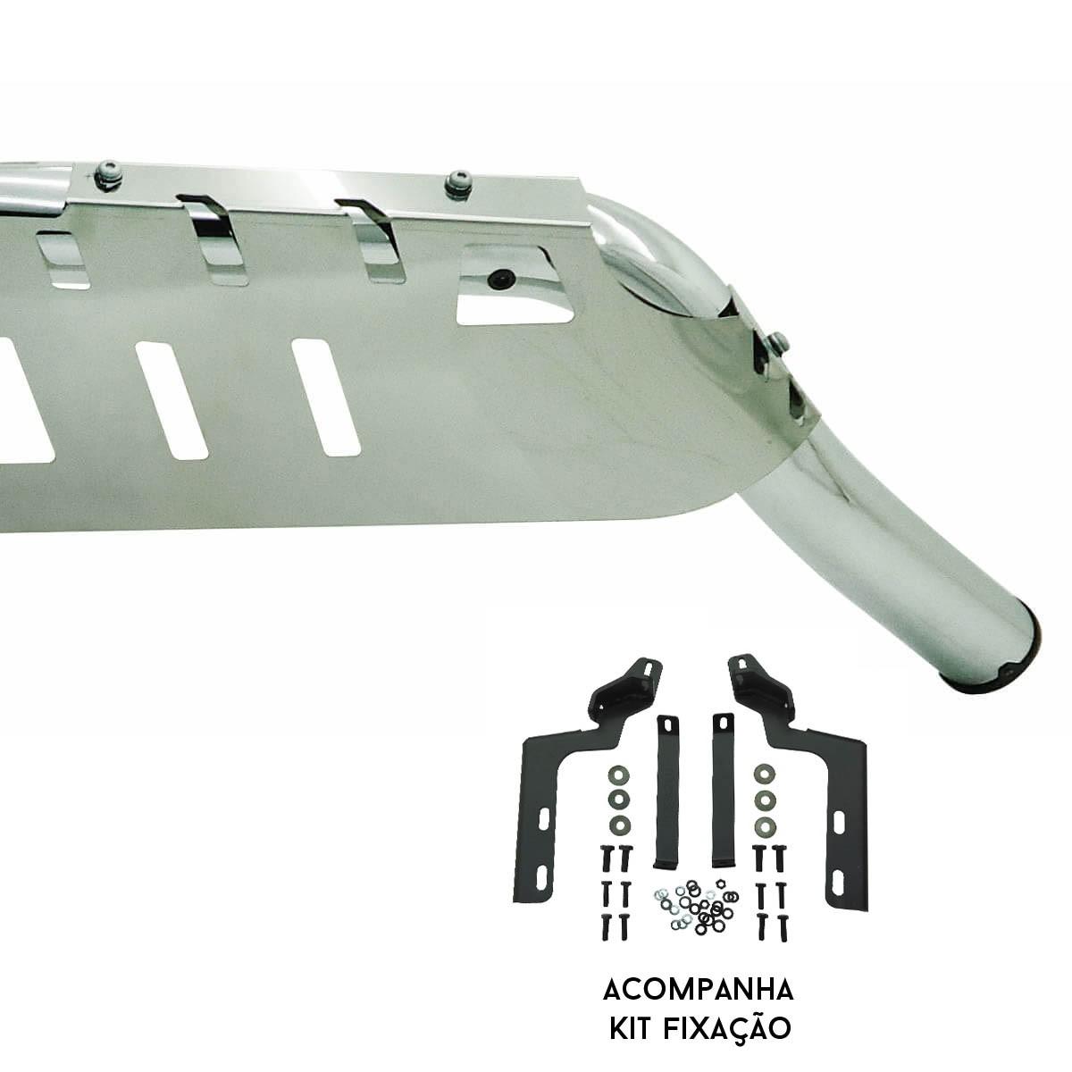 Protetor dianteiro baixo Bepo cromado S10 2012 a 2022