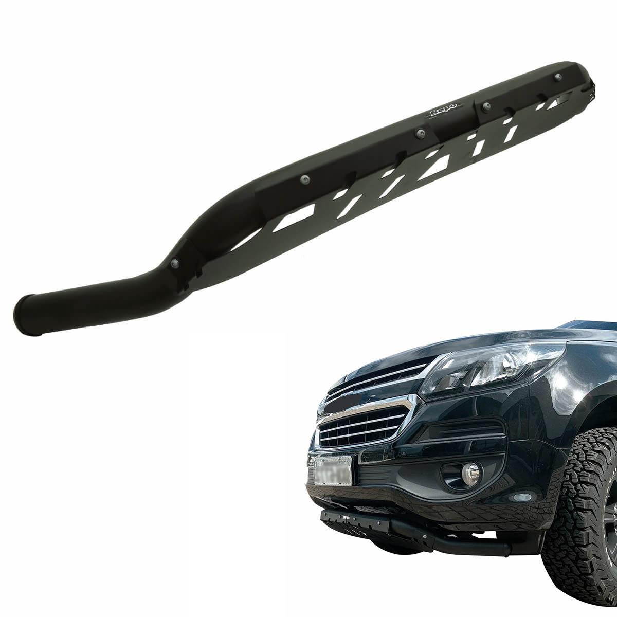 Protetor dianteiro baixo Bepo preto S10 2012 a 2020