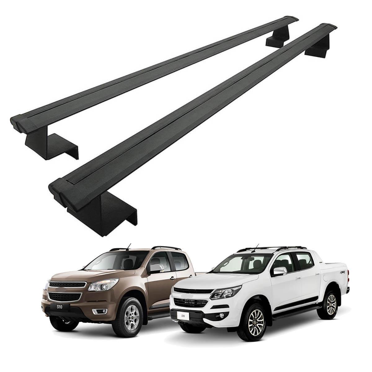 Rack de caçamba em alumínio preto Nova S10 2012 a 2021