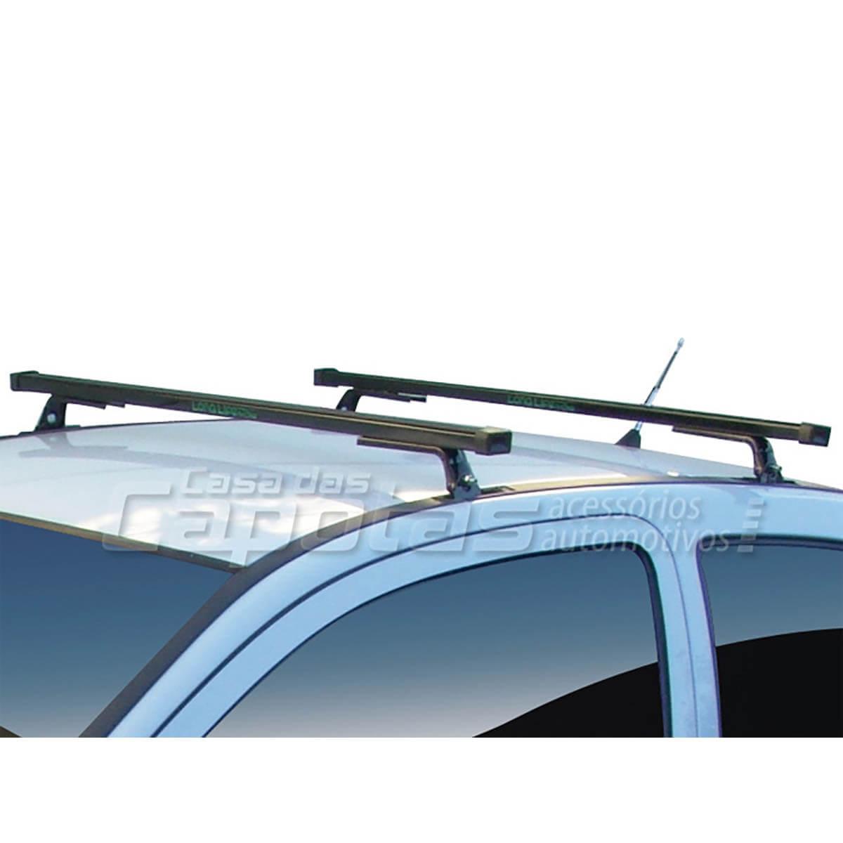 Rack de teto Long Life Aço Celta Corsa Prisma até 2012 Classic Kadett Astra e Ipanema K1