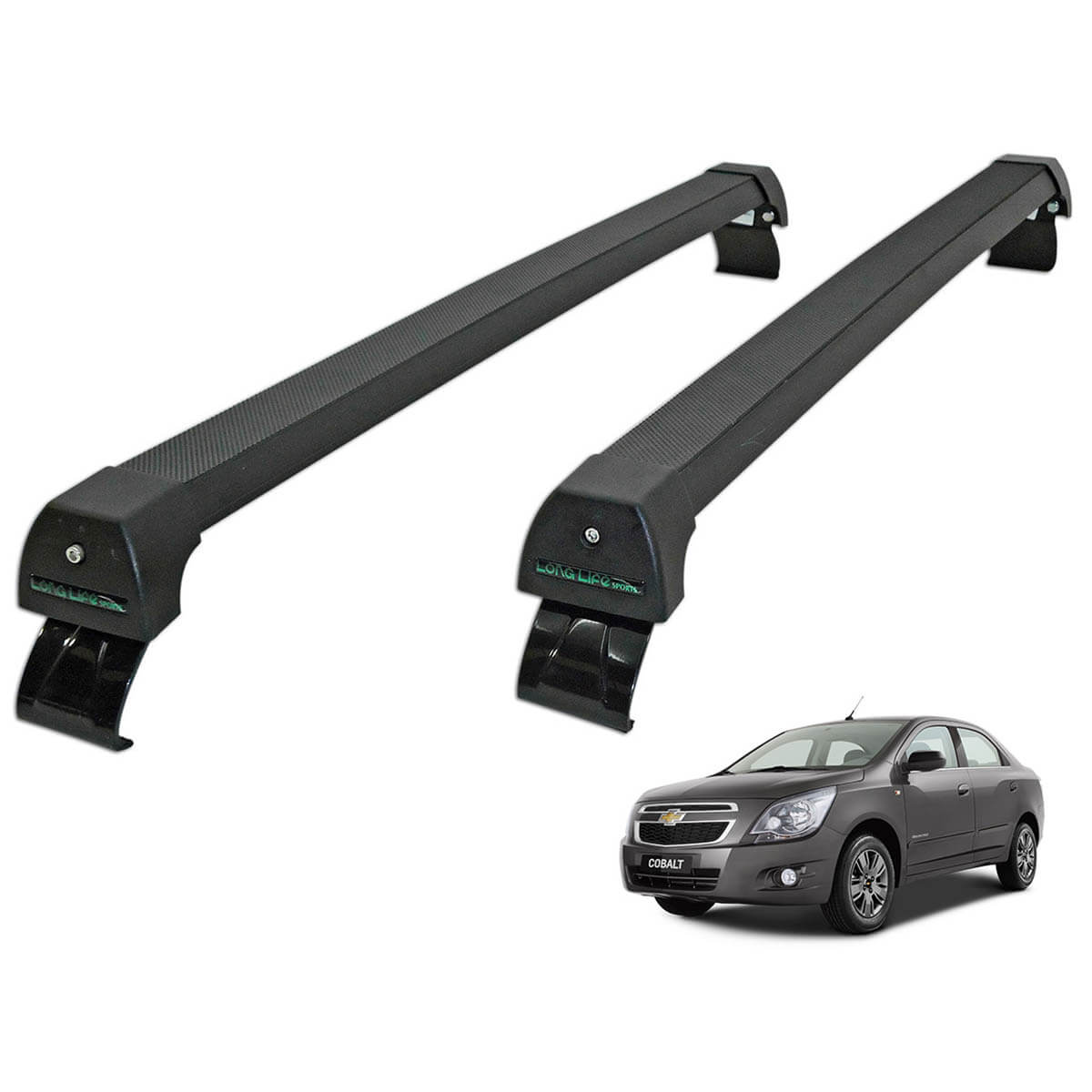 Rack de teto Long Life Sports preto Cobalt 2012 a 2020
