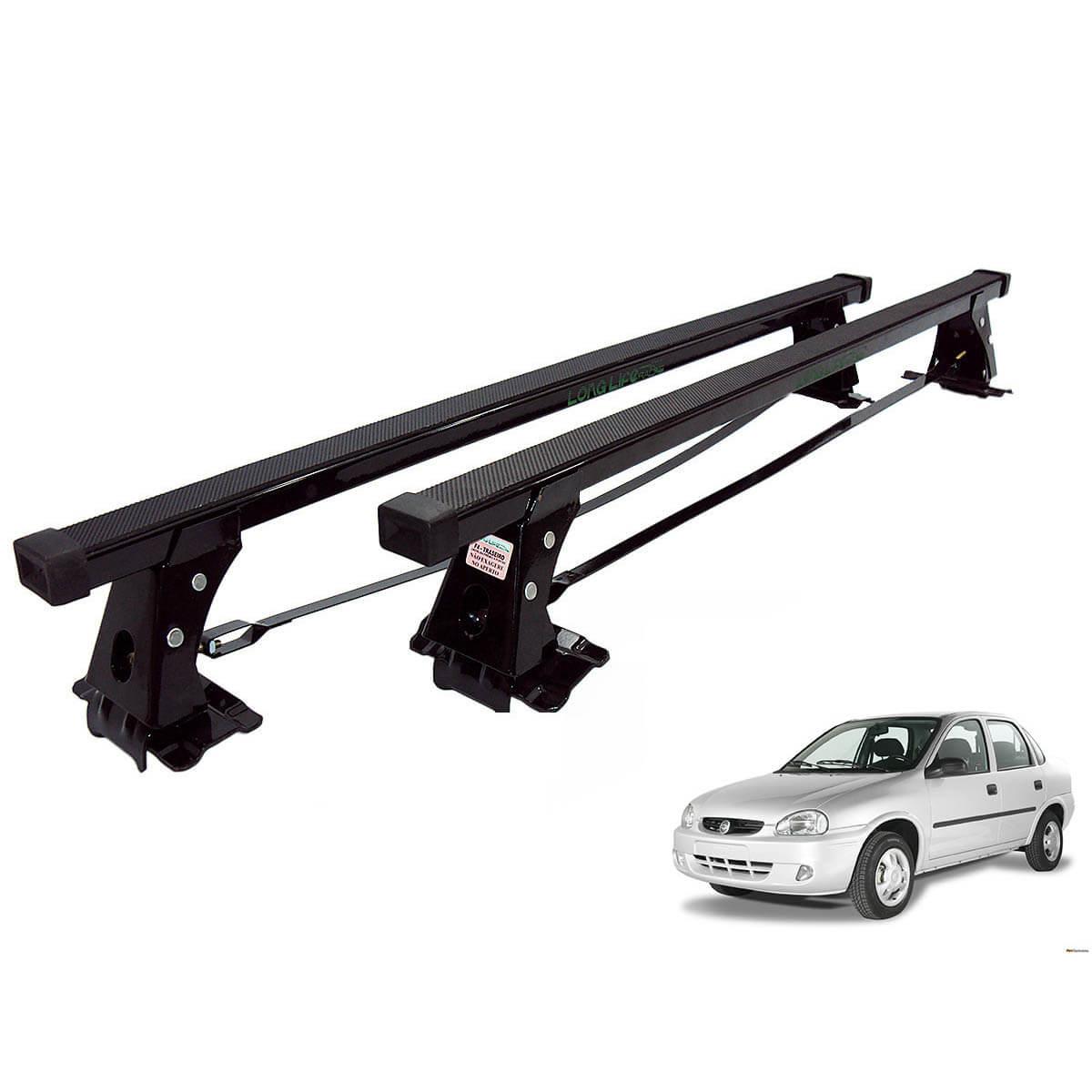Rack de teto Long Life Aço Corsa até 2003 4 portas ou Classic 2005 a 2015