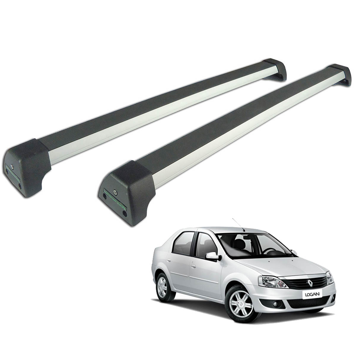 Rack de teto Long Life Sports Logan 2008 a 2013