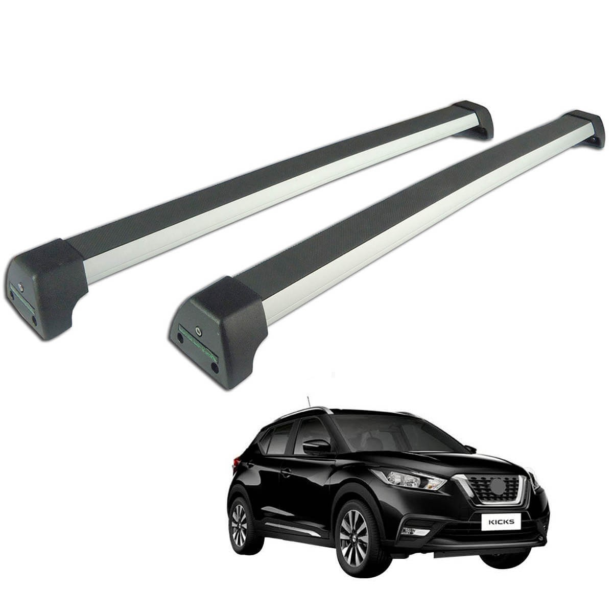 Rack de teto Long Life Sports Nissan Kicks 2017 a 2021
