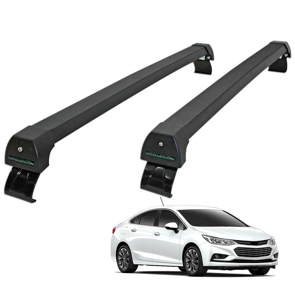 Rack de teto Long Life Sports preto Novo Cruze sedan 2017 2018 2019 2020