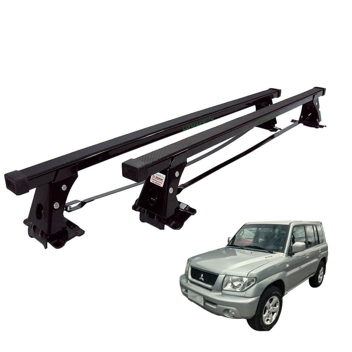 Rack de teto Long Life Aço Pajero TR4 2003 a 2015 ou Pajero IO 1999 a 2002 sem longarina de teto