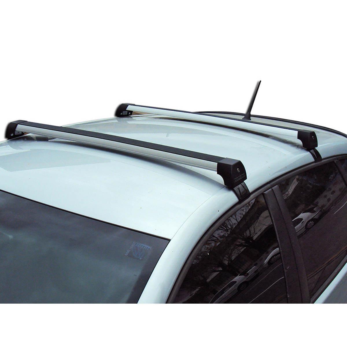 Rack de teto Peugeot 3008 2011 a 2015 sem teto solar Long Life Sports anodizado