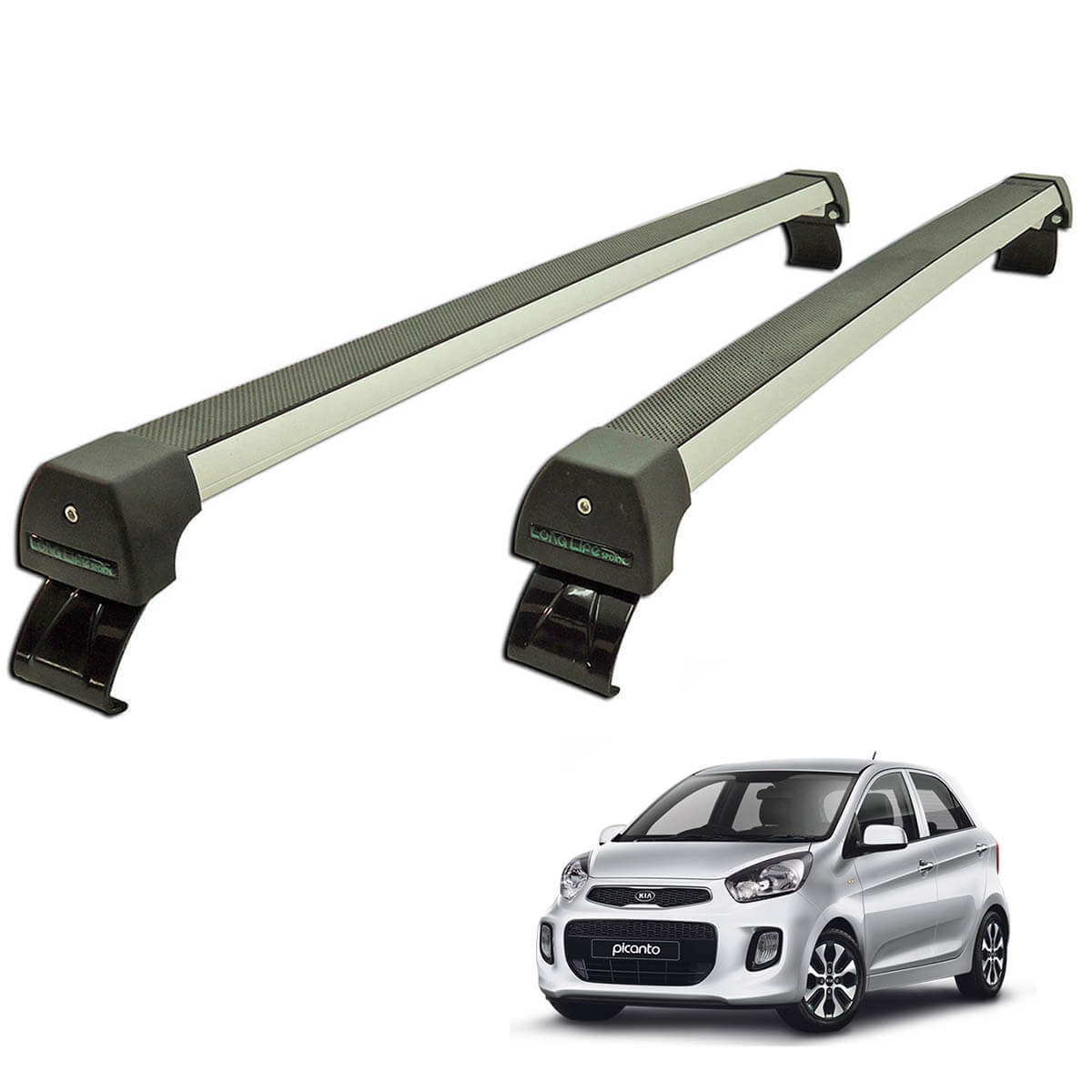 Rack de teto Long Life Sports Picanto 2012 a 2017