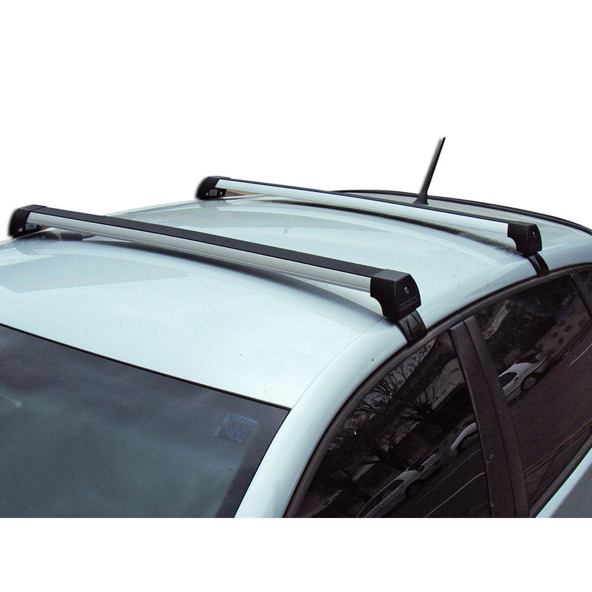 Rack de teto Polo hatch ou sedan 2003 a 2015 Long Life Sports anodizado