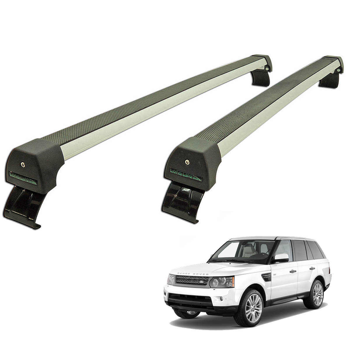 Rack de teto Long Life Sports Range Rover Sport 2005 a 2013
