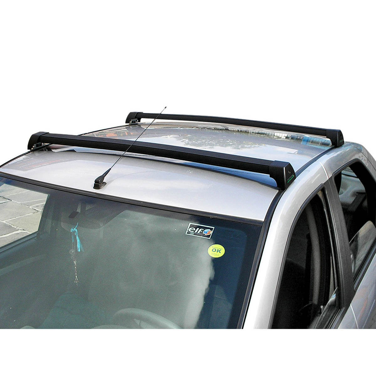 Rack de teto Long Life Sports preto Scenic 1999 a 2011