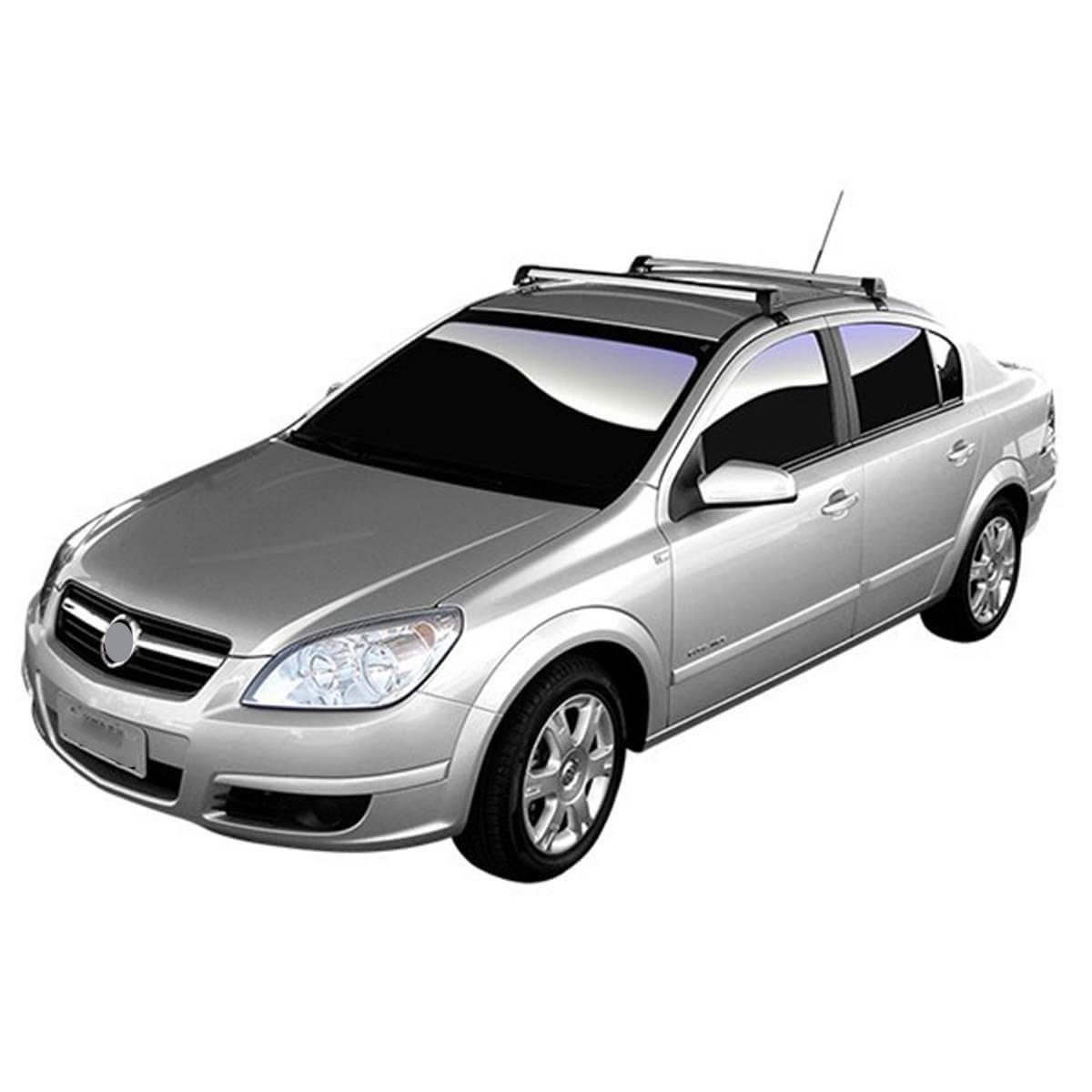 Rack de teto Vectra Sedan 2006 a 2011 Long Life Sports anodizado