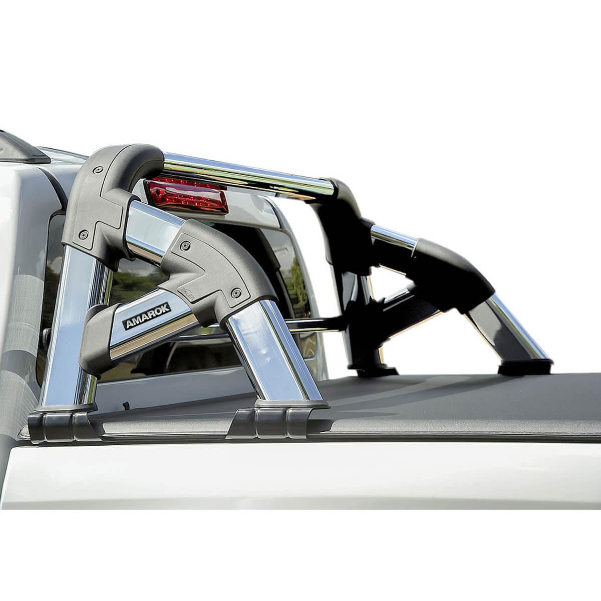 Santo antônio cromado Solar Exclusive Amarok 2011 a 2021 com barra de vidro