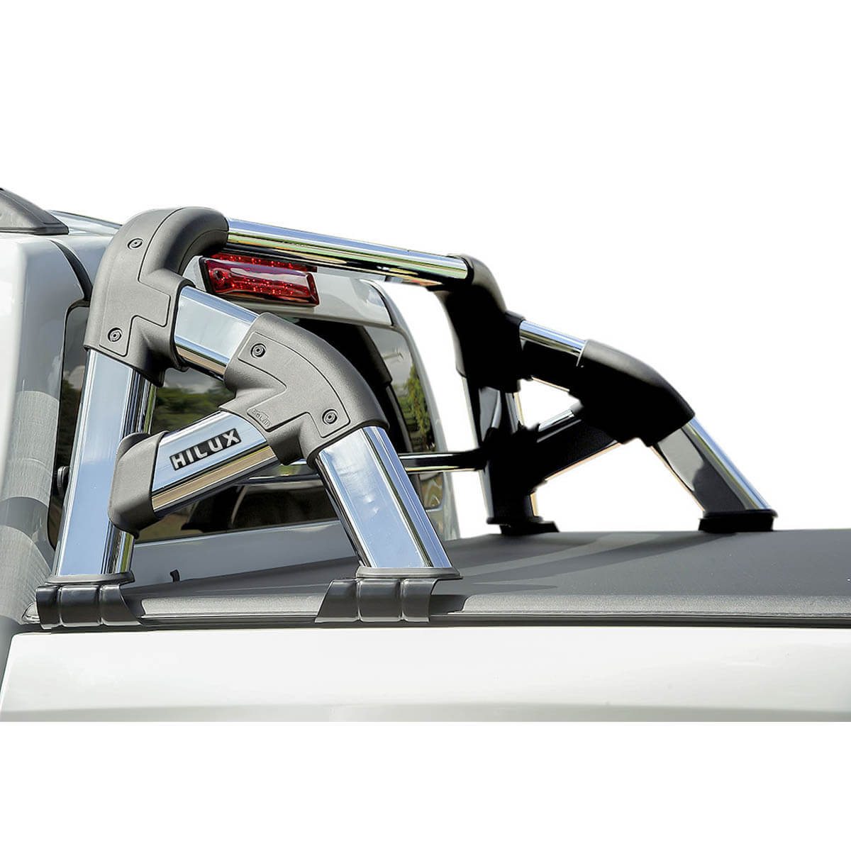 Santo antônio cromado Solar Exclusive Hilux 2005 a 2015 com barra de vidro