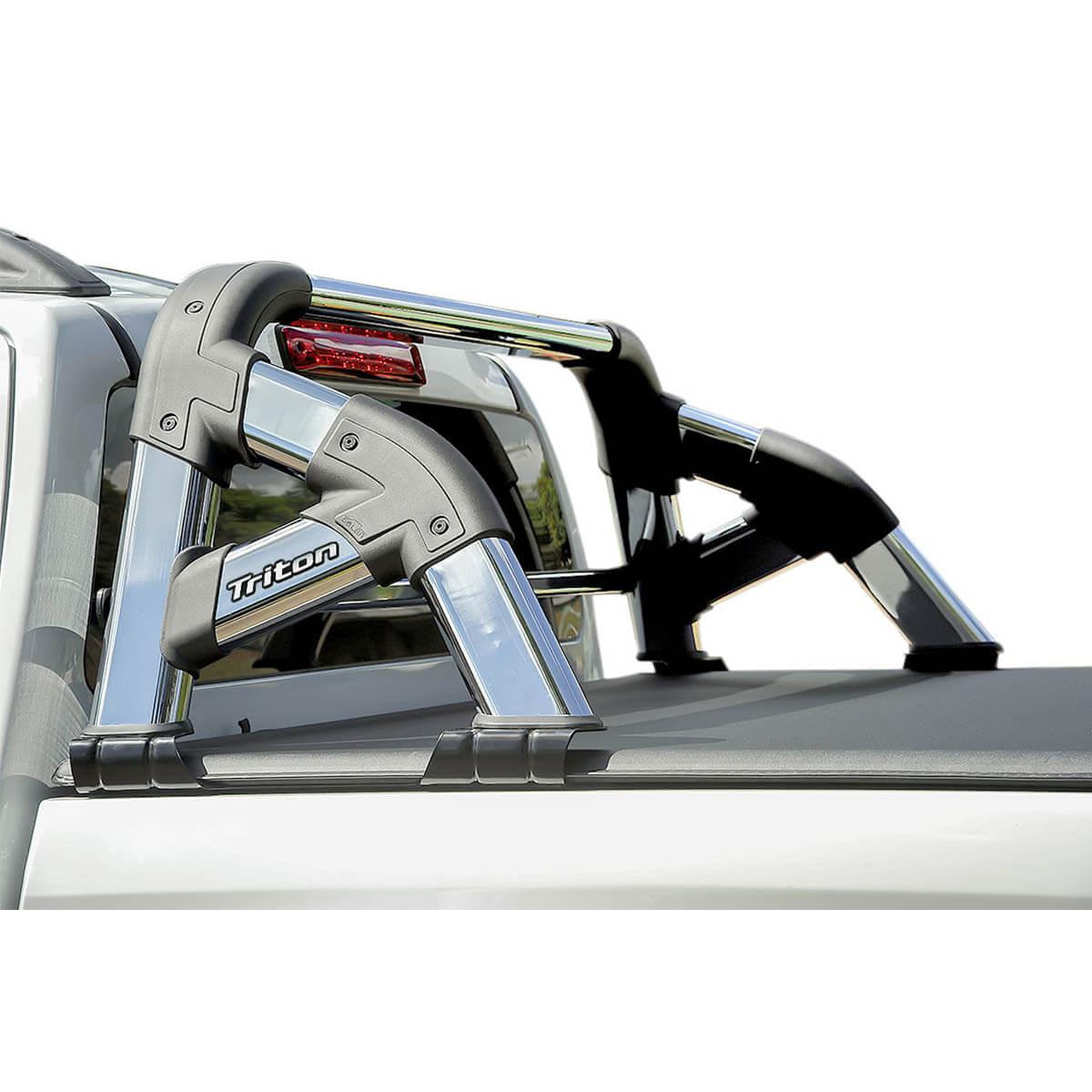 Santo antônio cromado Solar Exclusive L200 Triton 2008 a 2016 com barra de vidro