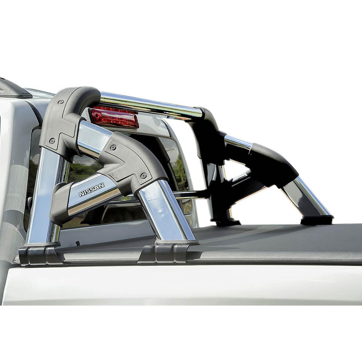 Santo antônio cromado Solar Exclusive Nova Frontier 2017 2018 2019 2020 com barra de vidro