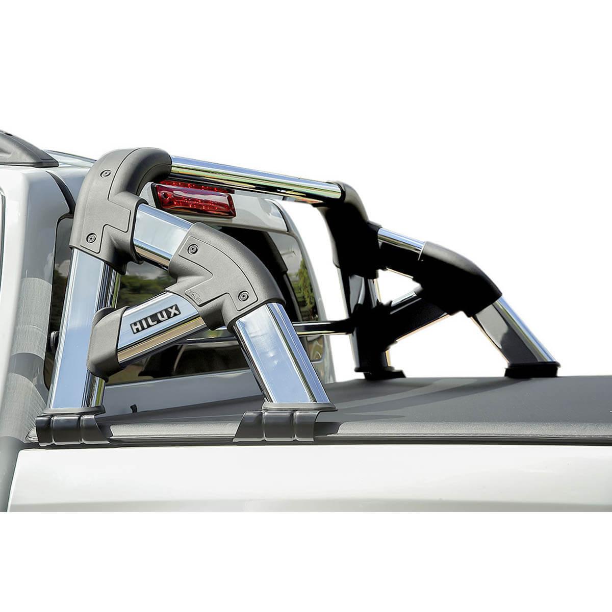 Santo antônio cromado Solar Exclusive Nova Hilux 2016 a 2021 com barra de vidro