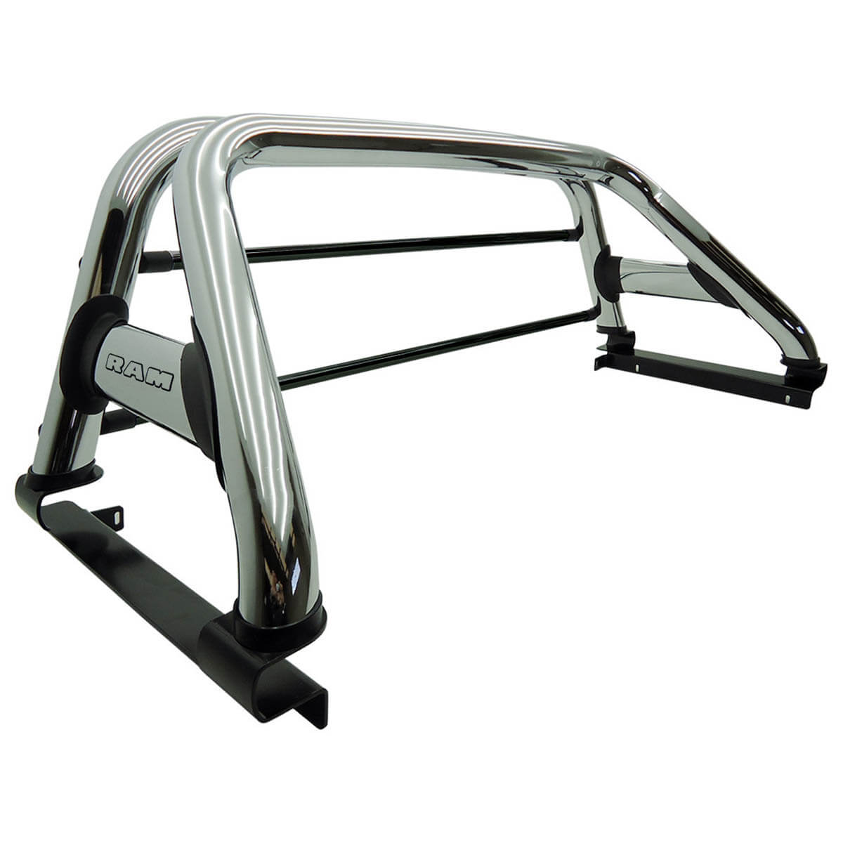 Santo antônio Track duplo cromado Dodge Ram 2005 a 2011 ou Laramie 2012 com barras de vidro