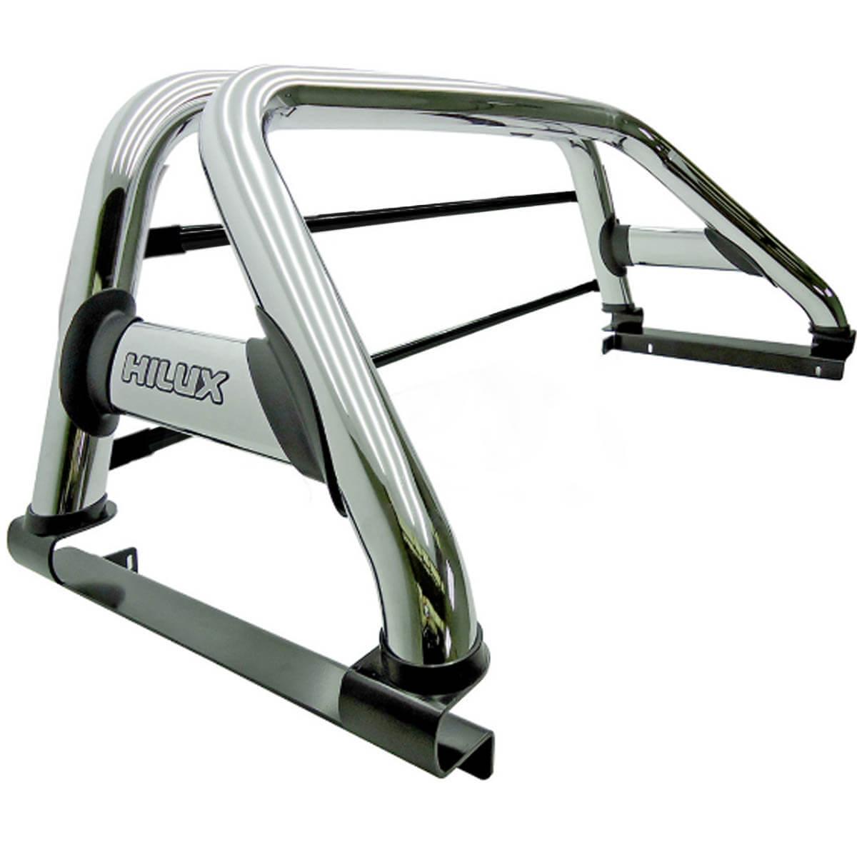 Santo antônio Track duplo cromado Hilux 1992 a 2004 com barras de vidro