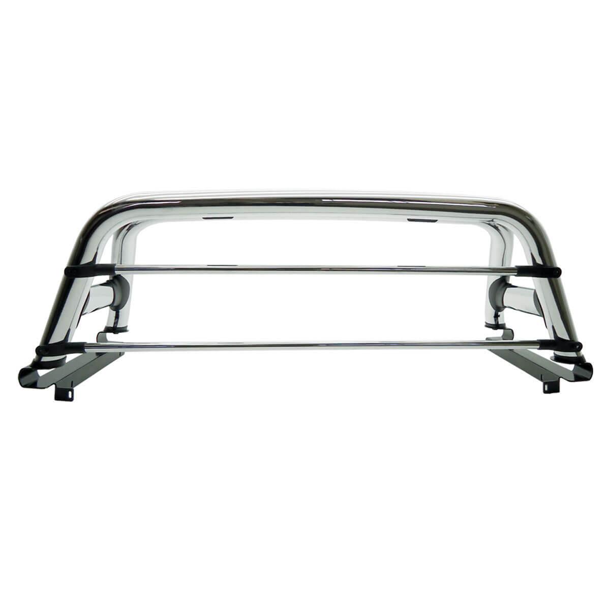Santo antônio duplo cromado L200 GL 1999 a 2005 ou L200 GLS 1999 a 2007 com barras de vidro em alumínio